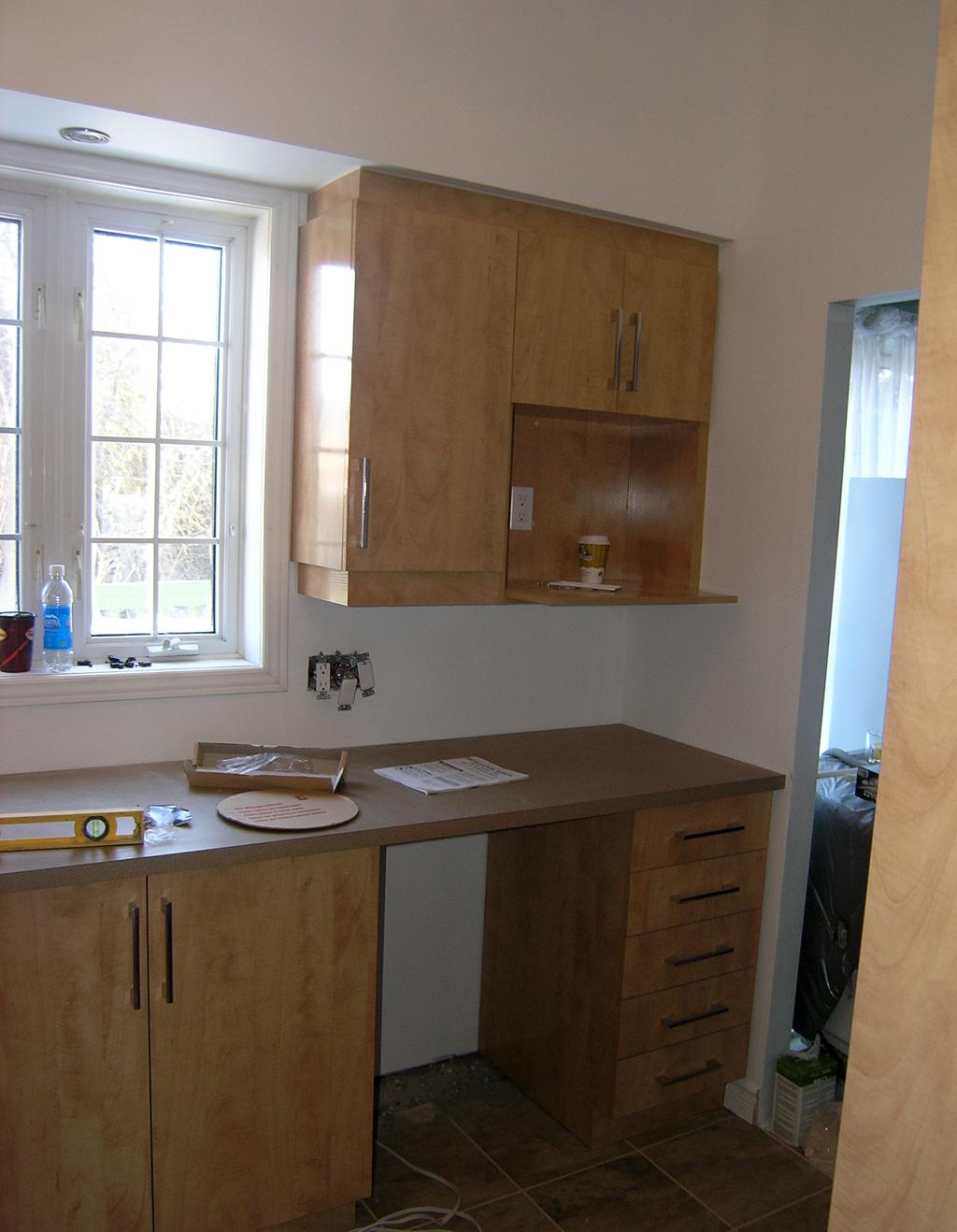 armoires avec retomb e les entreprises alain pilon inc. Black Bedroom Furniture Sets. Home Design Ideas