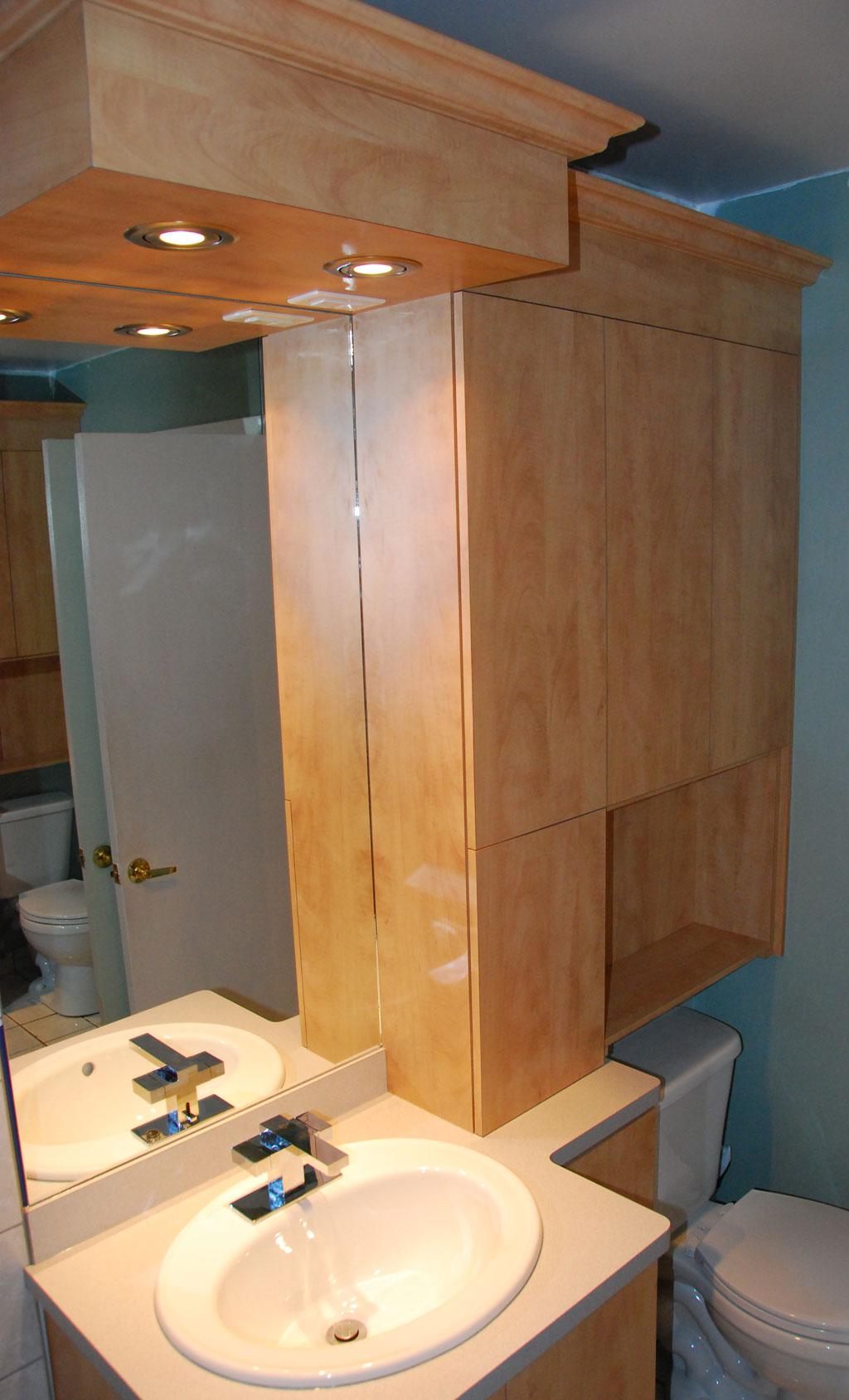 Vanit et armoires les entreprises alain pilon inc for Photo salle de bain